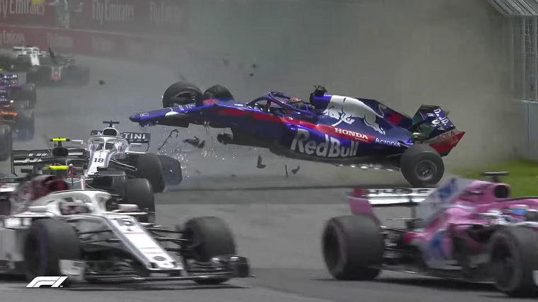 Hartley Crashes at 2018 Canadian GP