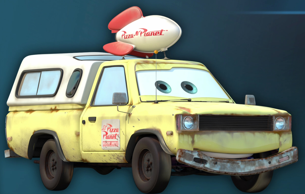 where is the pizza planet truck in each pixar movie the news wheel. Black Bedroom Furniture Sets. Home Design Ideas