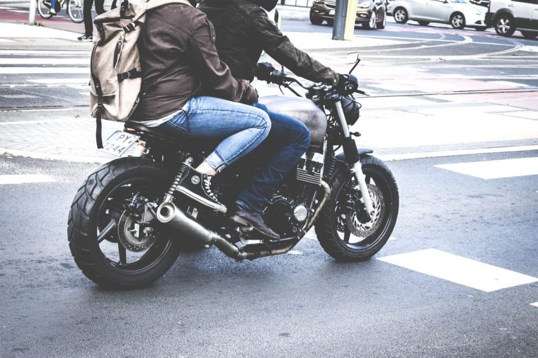 Motorcycle and Passenger