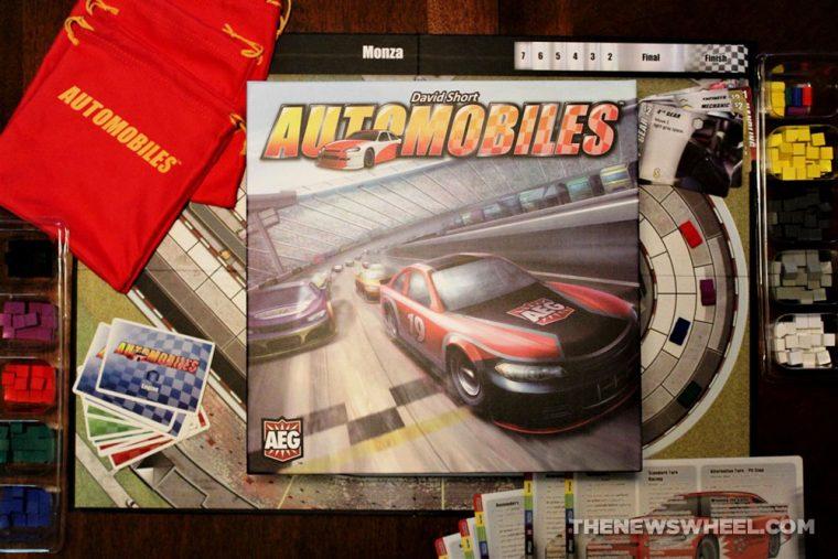 Automobiles review AEG car racing board game motorsports gearhead fun gameplay