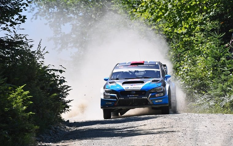 David Higgins at 2018 New England Forest Rally