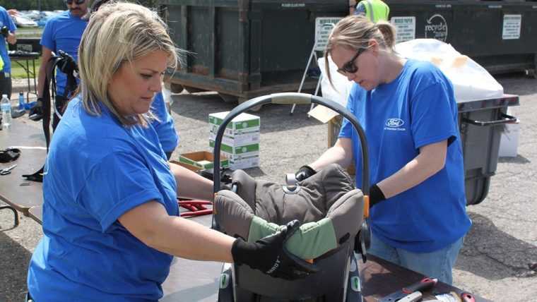 Ford Recycling Day Car Seats