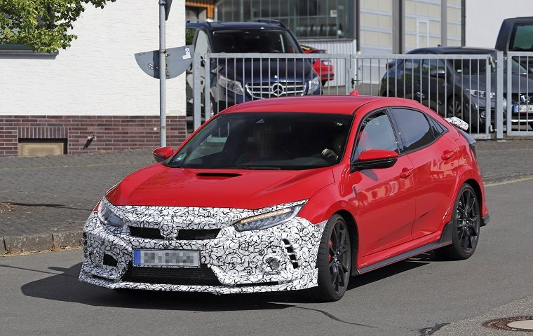 Honda Civic Type R spy shot