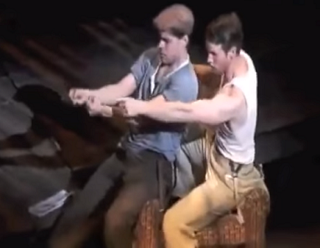 Jeremy Jordan and Claybourne Elder in When I Drive