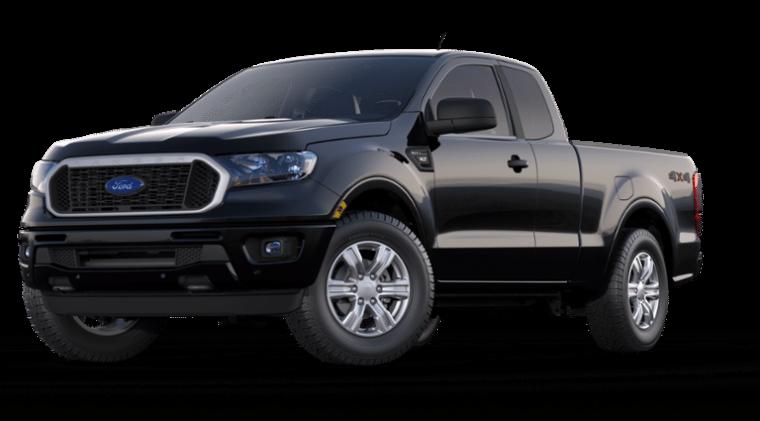 2019 Ford Ranger XLT SuperCab Shadow Black side