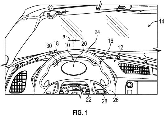 GM Patent adaptive instrument panel Figure 1