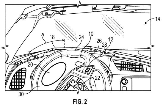 GM Patent adaptive instrument panel Figure 2