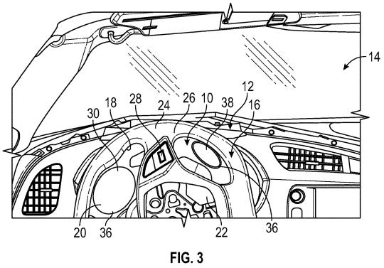 GM Patent adaptive instrument panel Figure 3