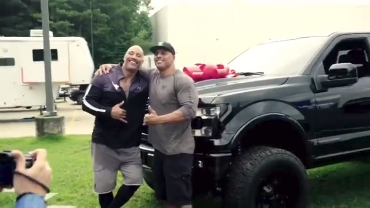 The Rock Surprises His Stunt Double With a New Ford F-150 - The News Wheel