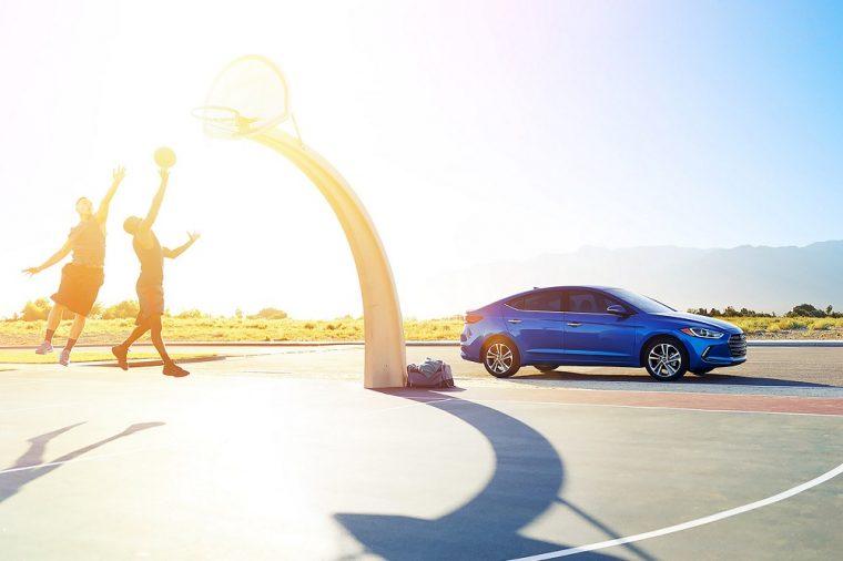 2018 Hyundai Elantra sedan blue