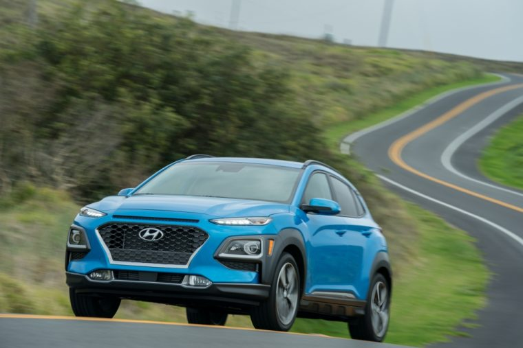2019 Hyundai Kona pricing style design announcement crossover blue