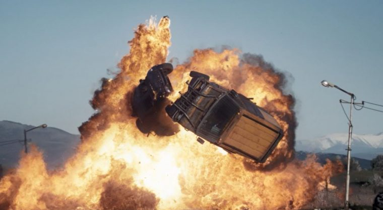 Death Race Beyond Anarchy review 2018 movie scene car explosion