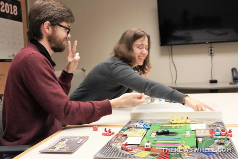 Griddly Headz Racing board game review NASCAR family motorsports tabletop playing