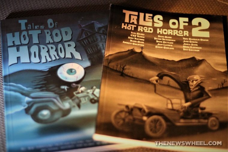 Tales of Hot Rod Horror comic book review horror cars graphic novel Cackling Imp Press cover volume 1 2