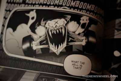 Tales of Hot Rod Horror comic book review horror cars graphic novel Cackling Imp Press scary demon art