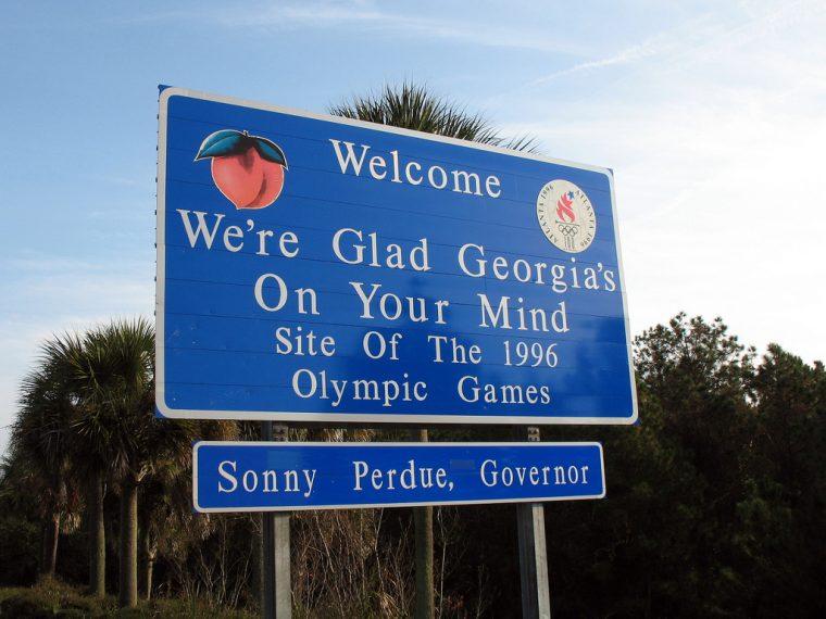 georgia welcome sign