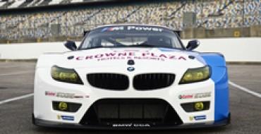 BMW's Z4s Post at Lime Rock Le Mans Race