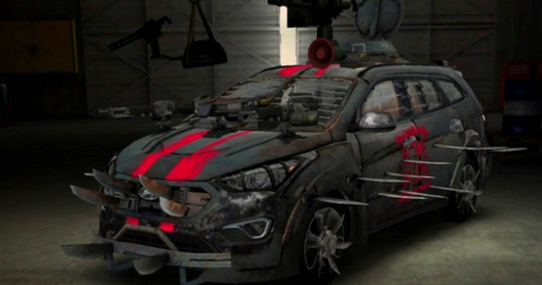 "Hyundai Unveils ""Walking Dead"" Santa Fe Zombie Survival Machine"