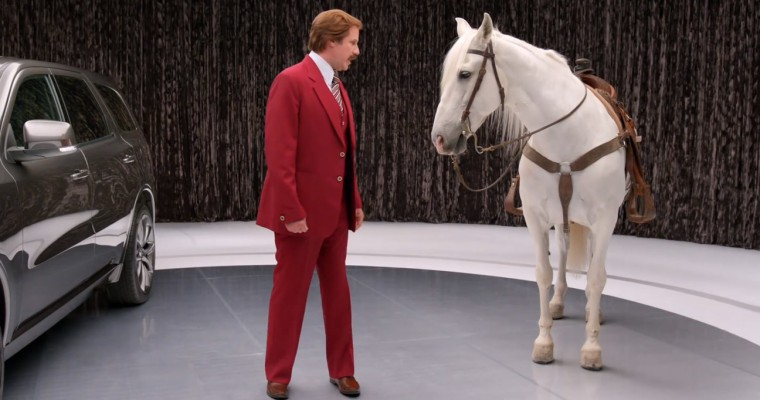 New Ron Burgundy Commercials: Love for Dodge Durango, Hatred of Horses