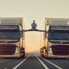 Actor Van Damme Splits Between Moving Volvo Trucks Because He Can