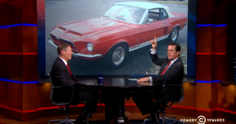 Ford CEO on Colbert Report Answers the…er…Hard Questions