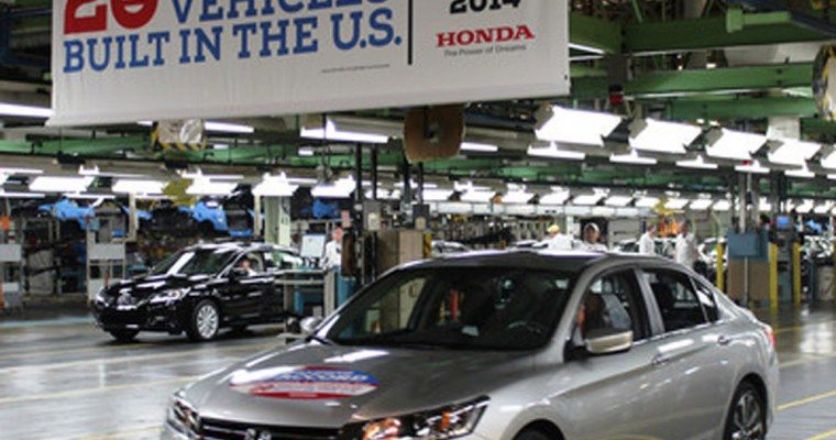 20 Millionth Honda Built in U.S. Rolls Off Production Lines