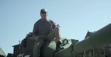 Arnold Schwarzenegger's Tank Crushes Stuff