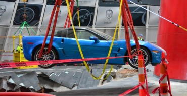 Sinkhole Corvettes Being Pulled in Bowling Green