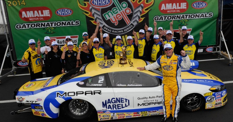 Johnson Brings Mopar Pro Stock Dodge Dart to Victory in First Race