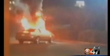 Woman Sets Man's Car on Fire at McDonald's