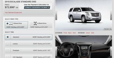 GM Launches 2015 Cadillac Escalade Configurator