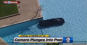 Camaro Crashes into Pool, Didn't Wait 30 Minutes after Eating