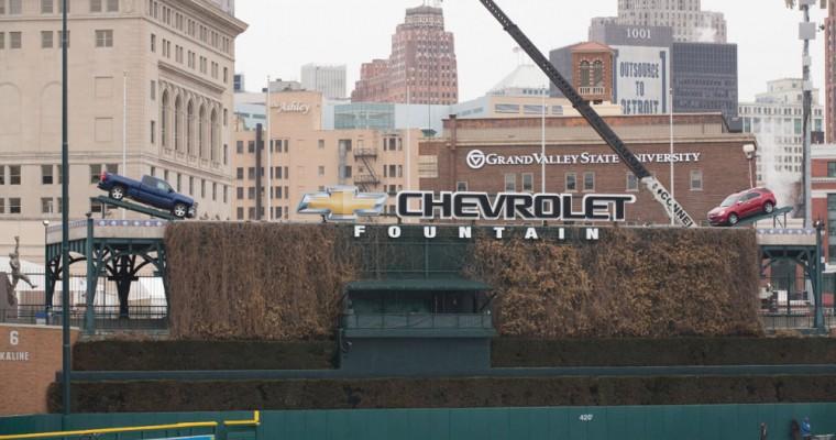 2014 Chevy Trucks in Comerica Park: It's Baseball Season