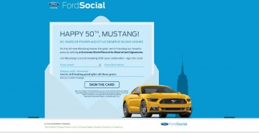 Mustang Birthday Card Wins World Record