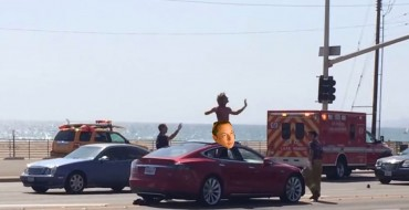 Naked Tesla Driver Is Naked