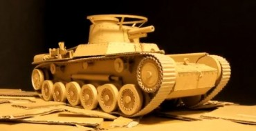 Cardboard Wizard Creates Remote Control Tank from Amazon Boxes