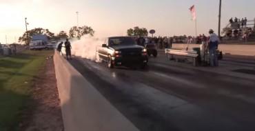 [VIDEO] 1,100 Horsepower Silverado Dominates the Drag Strip
