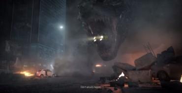 """Godzilla Craves Italian"" Ad Shows Big Monster Munching on Fiats"