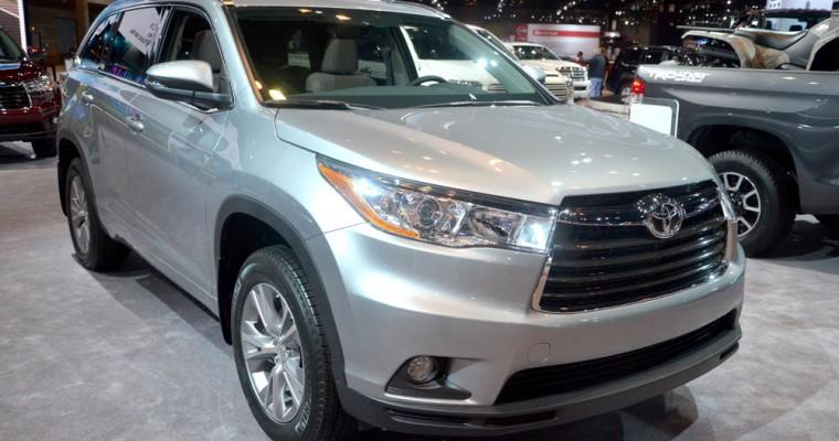 NHTSA Grants 2015 Toyota Highlander a Five-Star Safety Rating