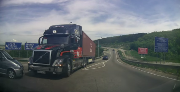 Volvo Truck Driver Spares Puny Human, Hatchback