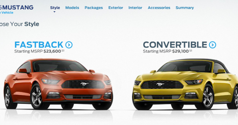 2015 Ford Mustang Configurator is Live