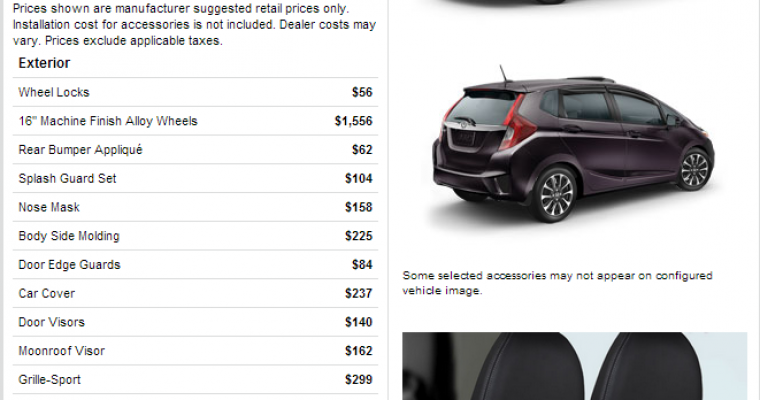 Tide Yourself Over With 2015 Honda Fit Configurator