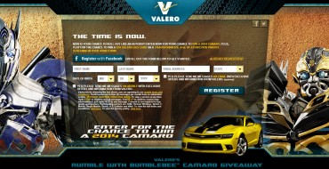 Check Out the Rumble with Bumblebee Camaro Sweepstakes