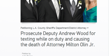 Sign the Change.org Petition to Prosecute Deputy Andrew Wood