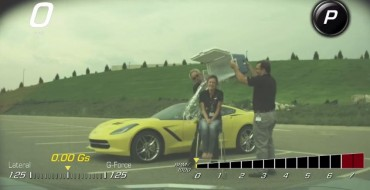 Corvette Performance Data Recorder Films an ALS Ice Bucket Challenge