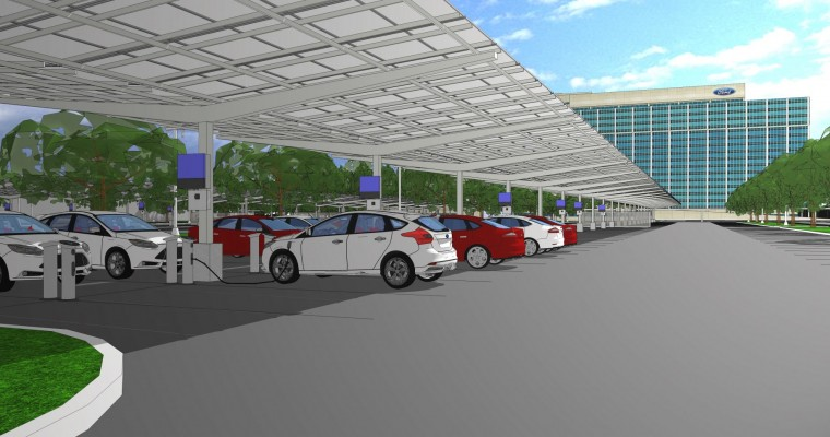 Ford, DTE Energy Plan Solar Array at Ford World HQ