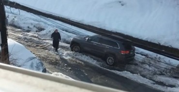 [VIDEO] Jeep Driver Loses Traction, Mind