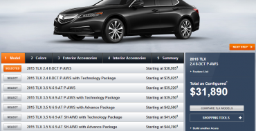 2015 Acura TLX Configurator: Configurate to Your Heart's Content