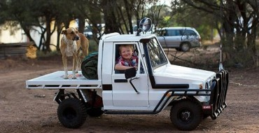 Dad Builds Son His Own Scaled-Down Toyota Land Cruiser