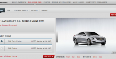 2015 Cadillac ATS Coupe Configurator Goes Live